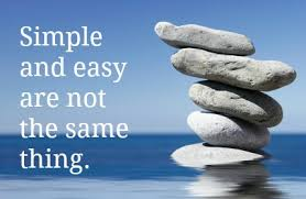 Most Achievements Are Simple, But Not Easy