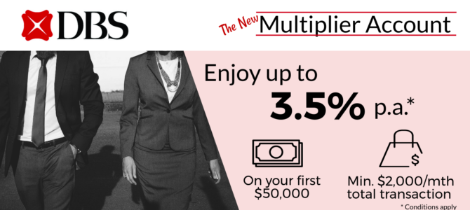 The New DBS Multiplier Account: The Best Savings Account For Frugal Millennials